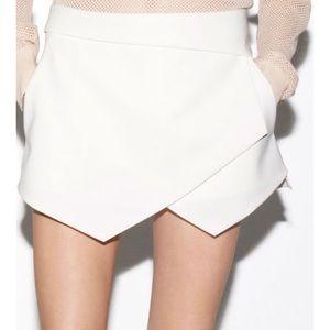 Zara Basic Asymmetrical RED/ORANGE Short; Size M